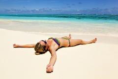 Vakantie op een tropisch eilandparadijs Stock Foto