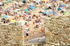 Vakantie in Costa Brava Stock Afbeeldingen