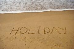 Vakantie op overzees strand Royalty-vrije Stock Fotografie