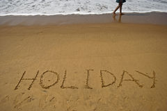 Vakantie op overzees strand Stock Foto