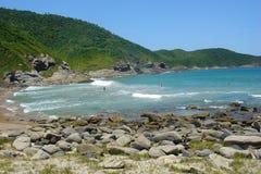 Vakantie op strand Buzios Stock Foto's