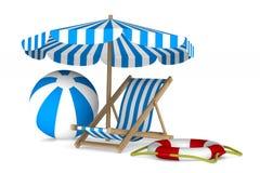 Vakantie op witte achtergrond 3d beeld royalty-vrije illustratie