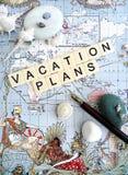 Vakantie planningsconcept royalty-vrije stock afbeeldingen