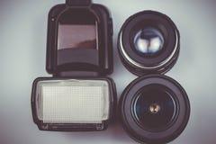 Vakantie of reisbeeldconcept met lens royalty-vrije stock foto