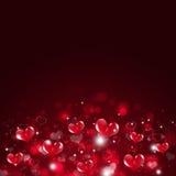 Vakantie Valentine Red Background Royalty-vrije Stock Afbeeldingen