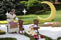 Vakantie van bloemen in Kiev, de Oekraïne Royalty-vrije Stock Afbeeldingen