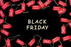 Vakantie van de manier de zwarte vrijdag De rode het winkelen etiketten van de verkoopkorting stock afbeeldingen