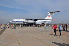 Vakantie van 100 jaar militaire Luchtmacht van Rusland Stock Foto