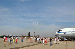 Vakantie van 100 jaar militaire Luchtmacht van Rusland Stock Afbeeldingen