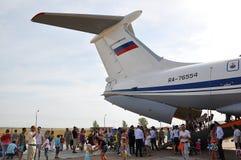 Vakantie van 100 jaar militaire Luchtmacht van Rusland Stock Fotografie