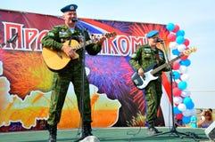 Vakantie van 100 jaar militaire Luchtmacht van Rusland Royalty-vrije Stock Foto's