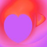 Vakantie van Sainted Valentijnskaart. De achtergrond van het hart Stock Foto's