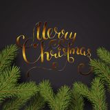 Vakantie Vector Van letters voorziende achtergrond Het vrolijke concept van Kerstmis stock illustratie