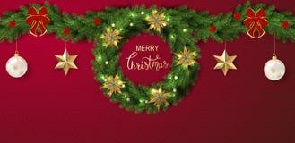 Vakantie Vector Van letters voorziende achtergrond Het vrolijke concept van Kerstmis royalty-vrije illustratie