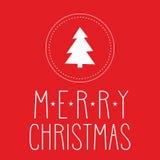 Vakantie vectorkaart met Vrolijke Kerstmiswensen Royalty-vrije Stock Foto