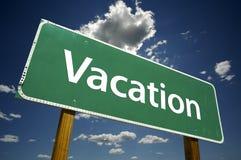 Vakantie - Verkeersteken. stock fotografie