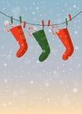 Vakantieachtergrond/Kerstkaart Stock Afbeeldingen