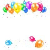 Vakantieachtergrond met ballons Stock Afbeelding