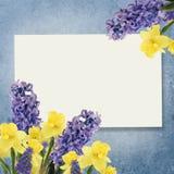 Vakantieachtergrond met de lentebloemen en lege plaats voor u Royalty-vrije Stock Fotografie