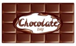Vakantiebanner voor chocoladedag, het van letters voorzien, achtergrond stock illustratie