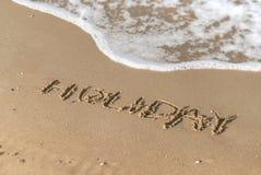 Vakantiebericht op het strand royalty-vrije stock foto's