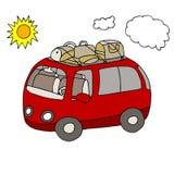 Vakantiebestelwagen Royalty-vrije Stock Afbeeldingen