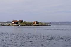 Vakantiehuis op een Klein Eiland stock foto