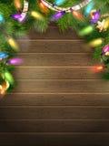 Vakantieillustratie met Kerstmisdecor Eps 10 Stock Fotografie