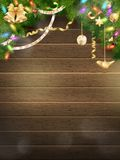 Vakantieillustratie met Kerstmisdecor Eps 10 Stock Foto