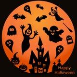 Vakantieillustratie op thema van Halloween Royalty-vrije Stock Afbeeldingen