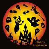 Vakantieillustratie op thema van Halloween Stock Foto's