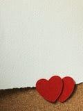 Vakantiekaart met woordliefde en hart Stock Foto's