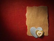 Vakantiekaart met woordliefde en hart Stock Afbeeldingen