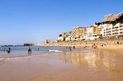 Vakantiemakers op Umdloti-Strand Durban Zuid-Afrika Stock Fotografie