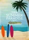 Vakantiereis het surfen druk royalty-vrije illustratie