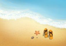 Vakanties op het strand Stock Illustratie