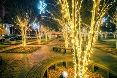 Vakantiescènes in uptown Charlotte Noord-Carolina Stock Fotografie