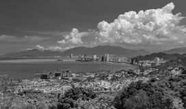 Vakantieseizoen Nha Trang zwart-wit Vietnam Stock Foto's
