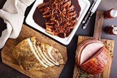 Vakantievlees van hierboven stock foto's