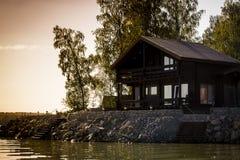 Vakantiewoning door het water Stock Foto