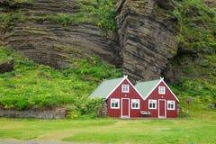 Vakantiewoning in IJsland Stock Afbeelding