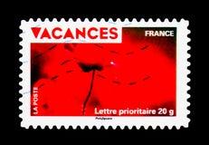 Vakantiezegels - Papaver, Vakantie serie, circa 2009 Royalty-vrije Stock Afbeeldingen