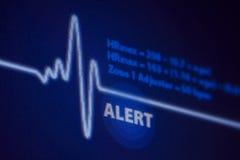 Vaken takt för hjärta för varningstecken Arkivfoto