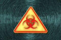 Vaket tecken för virus för illustrationbildskärm för dator 3d säkerhet Arkivbild
