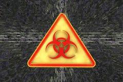 Vaket tecken för virus för illustrationbildskärm för dator 3d säkerhet Royaltyfria Bilder