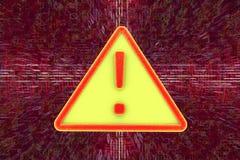 Vaket tecken för virus för illustrationbildskärm för dator 3d säkerhet Arkivfoto