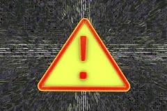 Vaket tecken för virus för illustrationbildskärm för dator 3d säkerhet Royaltyfri Foto