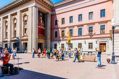 Vakhtangov Theatre and fountain Turandot in Arbat street of Mosc Stock Photography