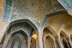 Vakil清真寺内部在设拉子 库存照片