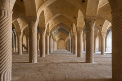 Vakil Mosque - prayer hall Royalty Free Stock Image